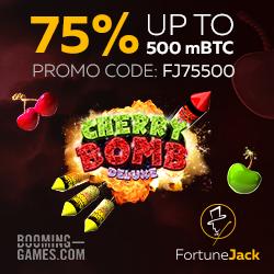 FortuneJack cherry bomb promo code fj75500